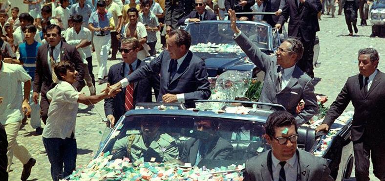Richard M. Nixon y Gustavo Díaz Ordaz en Puerto Vallarta
